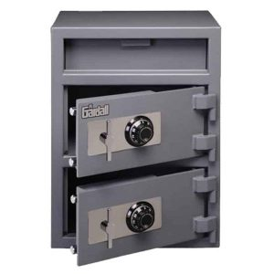 Gardall LCF2820-G-C | Double Door Depository Safe with Mechanical or Electronic Lock