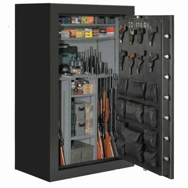Sovereign S-60-DGP-E-S-72 | 60 Gun Safe with Electronic Lock