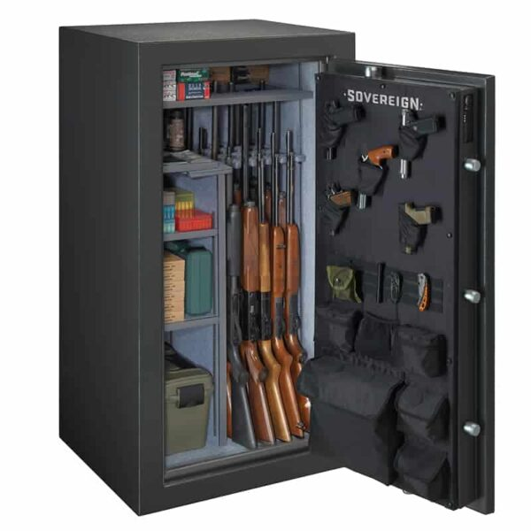 Sovereign S-36-DGP-E-S | 36 Gun Safe with Electronic Lock