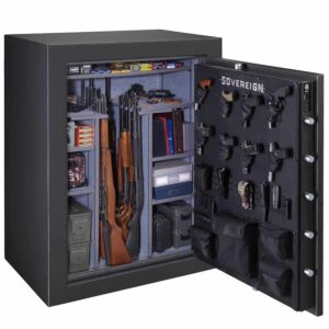 Sovereign S-60-DGP-E-S | 60 Gun Safe with Electronic Lock