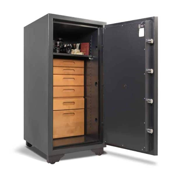 AMSEC CSC4520 C-Rated Burglary & Fireproof Safe open props drawer inside