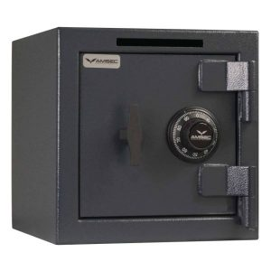 """AMSEC MS1414CS Compact Single Door Standard Safe Closed Scaled """