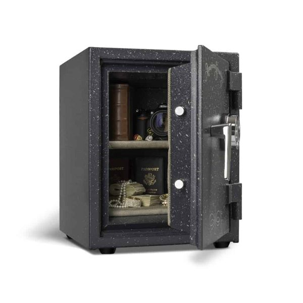 AMSEC UL1511 Two-Hour Fireproof Home Security Safe open props