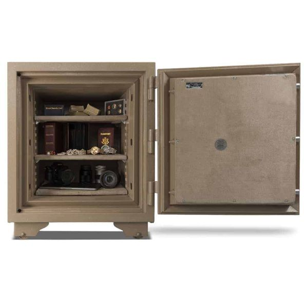 AMSEC UL2018 Two-Hour Fireproof Home Security Safe full open props and accessories
