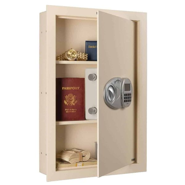 AMSEC WEST2114 Wall Safe with Electronic Lock Open Props
