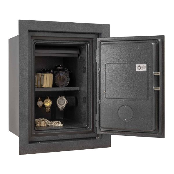 AMSEC WFS149 Wall Safe open props and accessories