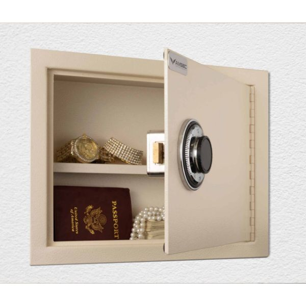 AMSEC WS1014 Wall Safe B- Rated Burglary Open door and props