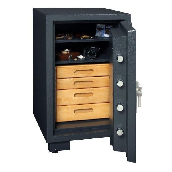 AMSEC CSC3018 B-Rated Burglary & Fire Safe open drawer inside