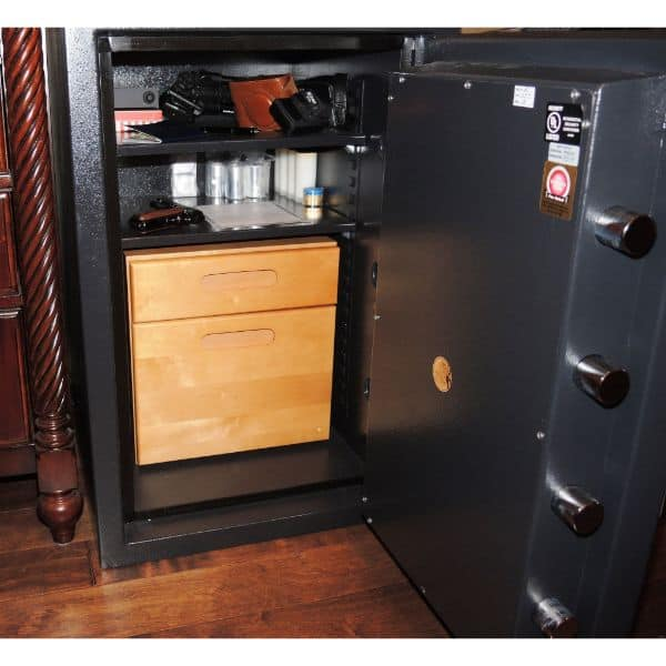 AMSEC CSC3018 B-Rated Burglary & Fire Safe open props drawer inside
