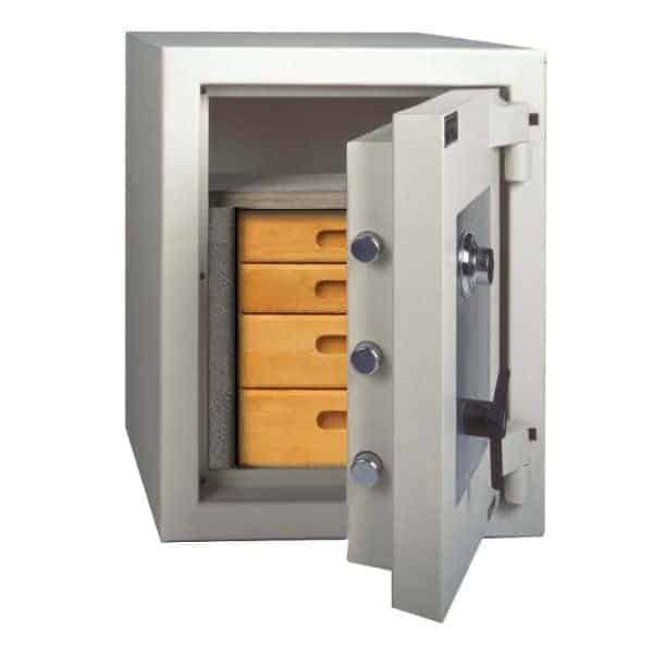 AMSEC AmVault CE2518 Fireproof Protection Safe open props