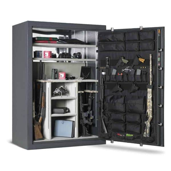 AMSEC BFX7250 Burglary-Rated Gun Safe open props and accessories
