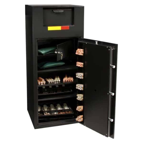 AMSEC BWB4020FL B-Rated Wide Body Deposit Safe open props