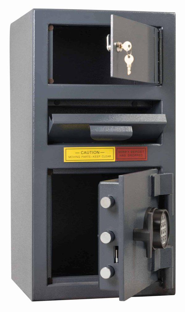 AMSEC DSC2014KC Deposit Safes open doors empty