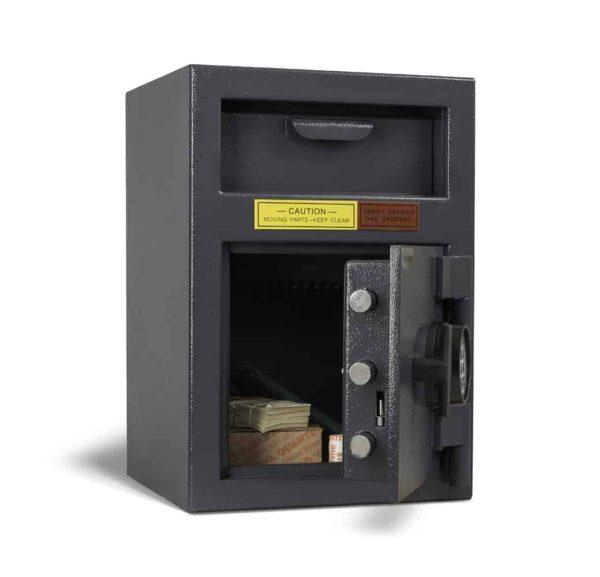 AMSEC DSF2714K Deposit Safes open props