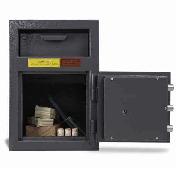 AMSEC DSF2714K Deposit Safes full open front props