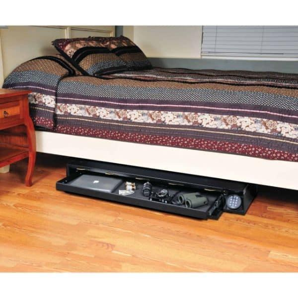 Defence Vault open accessories props under bedroom