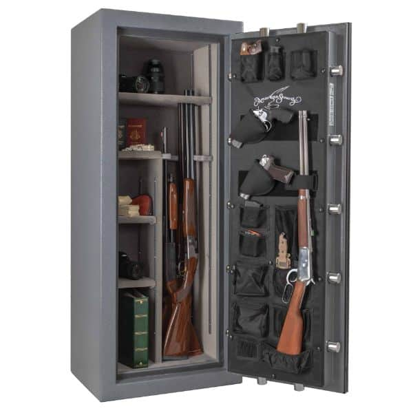 AMSEC NF5924-E5 90-Minute Fire Gun Safes full open props