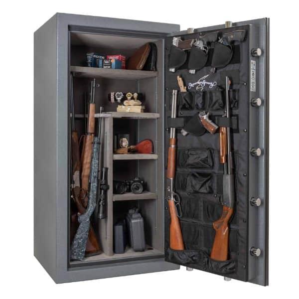 AMSEC NF6030E5 Rifle & Gun Safe with ESL5 Electronic Lock Open Props
