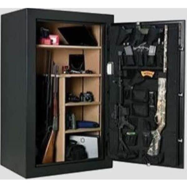 AMSEC BF6636 120-Minute Fire Gun Safes open props