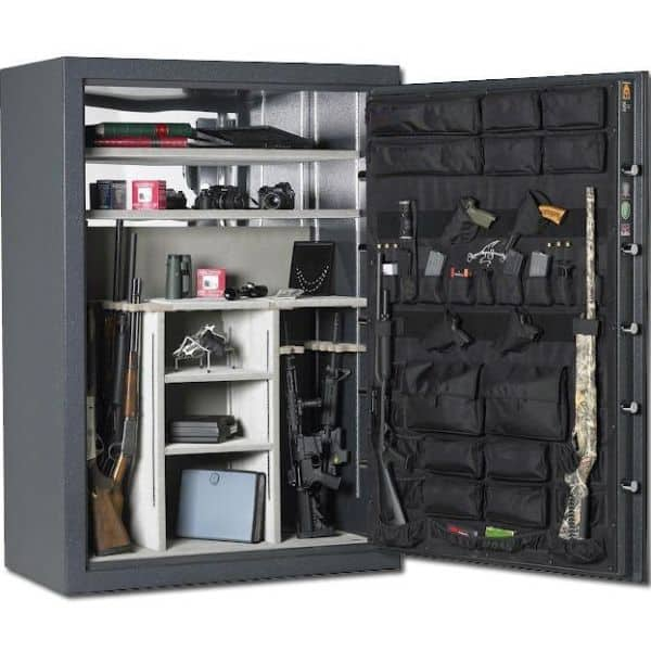 AMSEC BF7250 120-Minute Fire Gun Safes open props and accessories