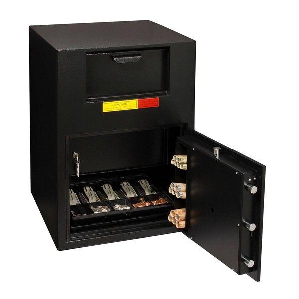 AMSEC BWB2020FL B-Rated Wide Body Deposit Safe open props