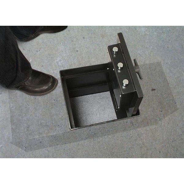 AMSEC B2200 In-Floor Safes full open square door