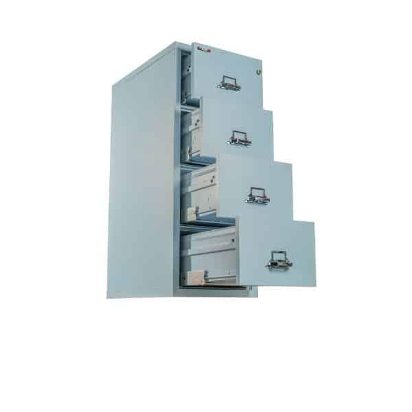 FireKing 4-2131-C Fire File Cabinet open drawers