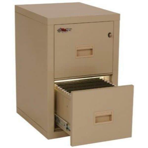 Fireking - 2R1822-C - Two Drawer Turtle Vertical File Cabinet open